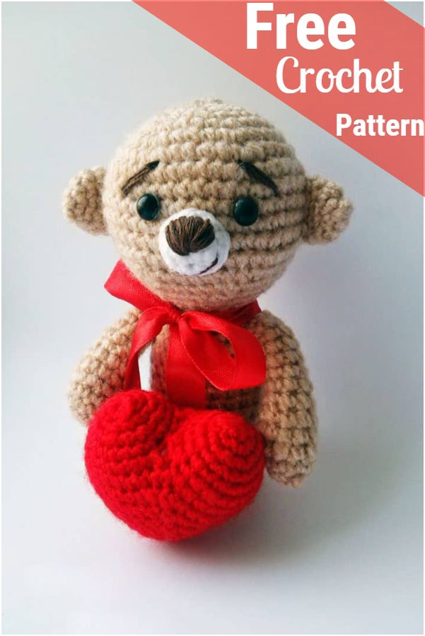 Free Crochet Teddy Bear Patterns #crochetteddybearpattern