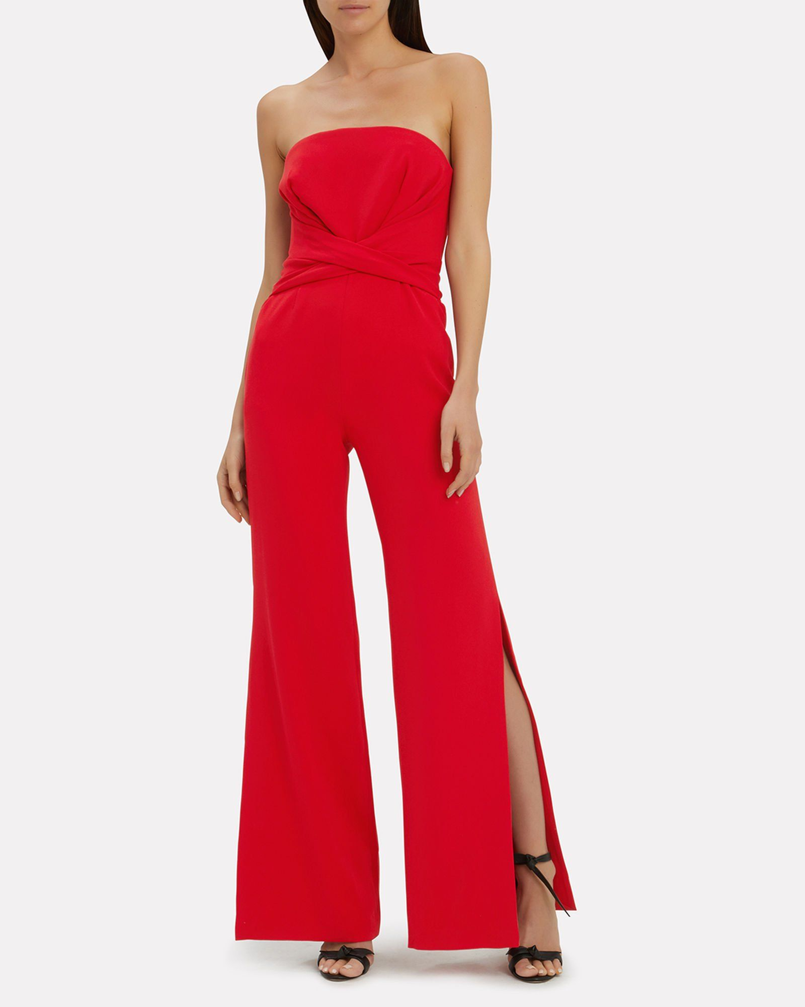 e4a99611738 Red Crepe Jumpsuit