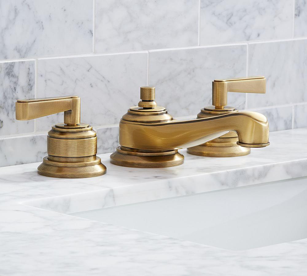 Lever Handle Widespread Bathroom Faucet