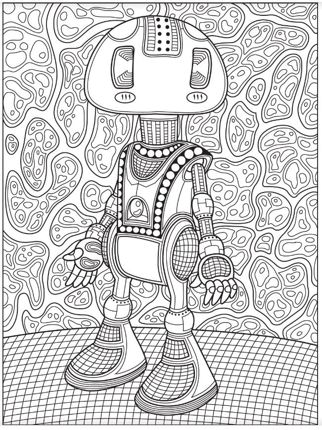 robot colorish free coloring app for adults by goodsofttech coloriages mandalas dibujos. Black Bedroom Furniture Sets. Home Design Ideas