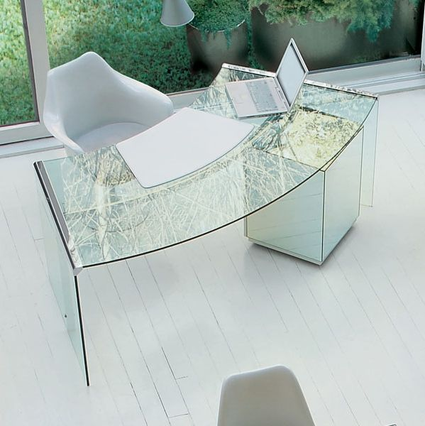Home Office Design Ideas On Modern Office With Minimalist Glass Office Desk  Furniture Design