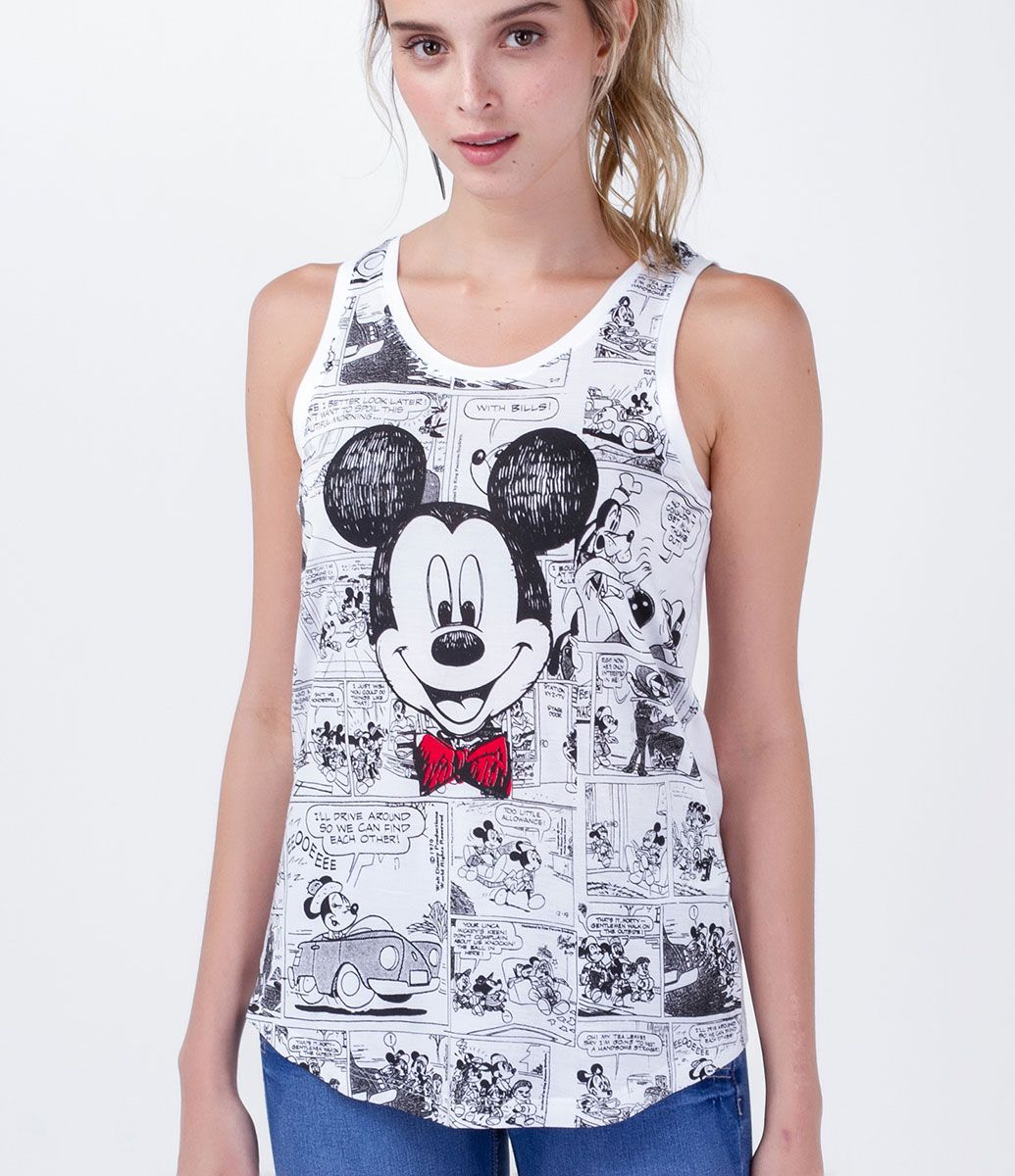 a60b429914 Regata feminina Gola redonda Com estampa do Mickey Marca  Disney Tecido   viscose Composição  100% viscose Modelo veste tamanho  P COLEÇÃO VERÃO 2016  Veja ...