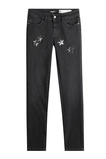 Jeans with Sequin Star Embellishment | Just Cavalli