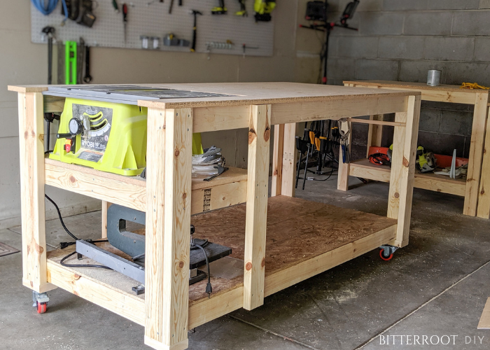 Mobile Workbench With Table Saw Mobile Workbench Table Saw
