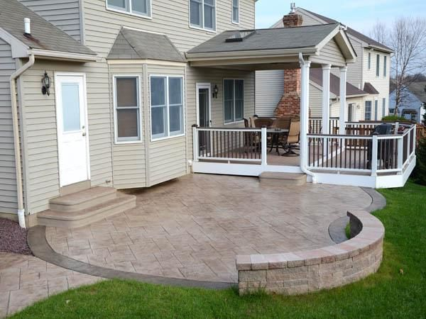 Pin By Walkers Concrete Llc 513 315 7 On Seating Retaining Walls Concrete Patio Designs Poured Concrete Patio Patio Remodel