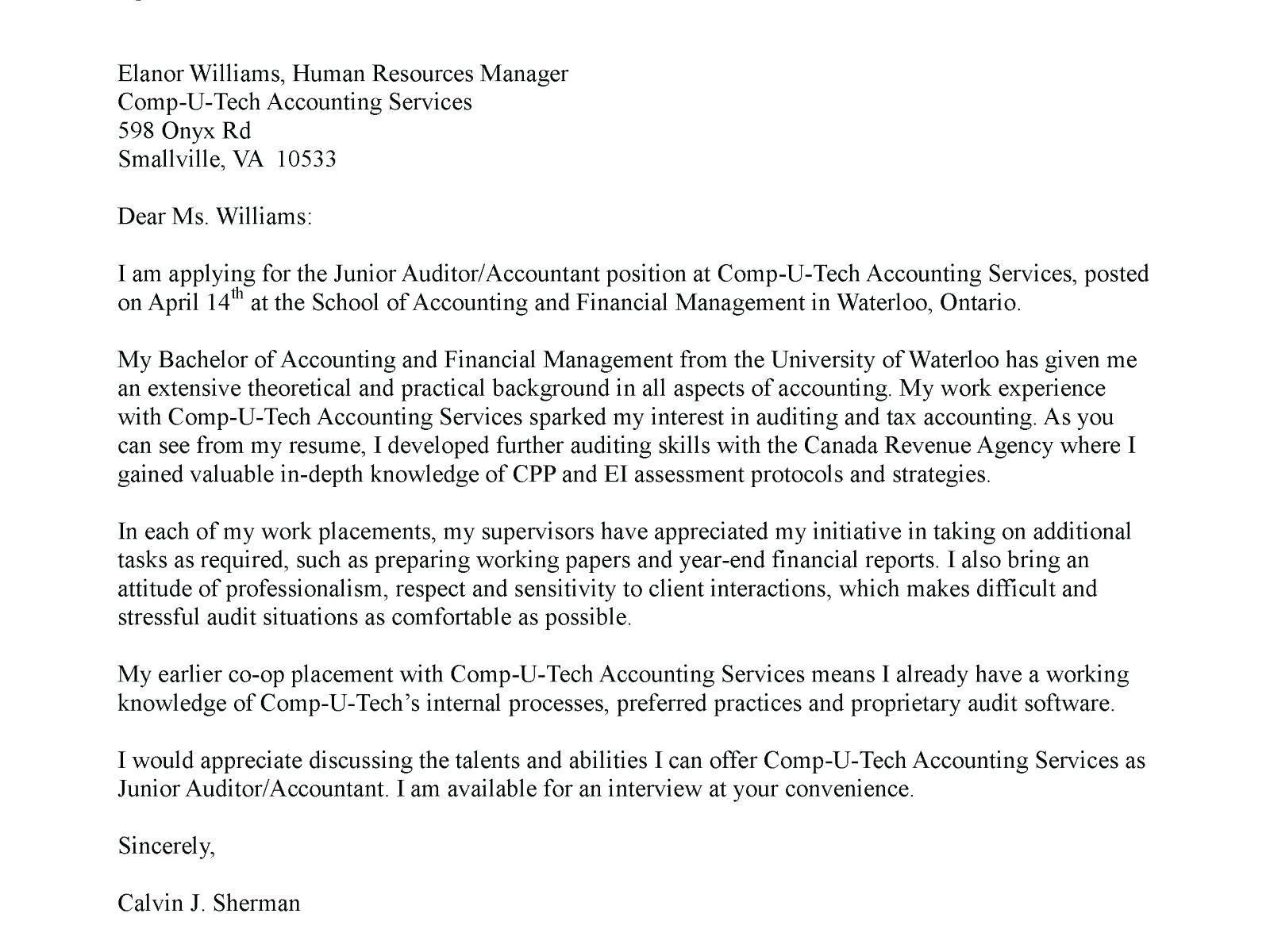 27+ Audit Cover Letter | Resume Cover Letter Example | Cover letter ...