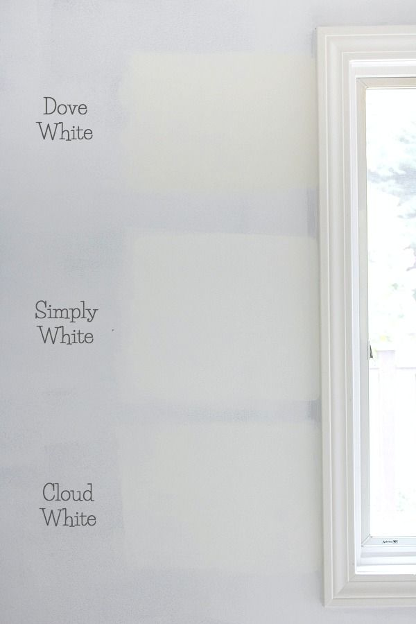 The Best Whites Compared Benjamin Moore Dove White Versus Simply Vs Cloud Paint Colors