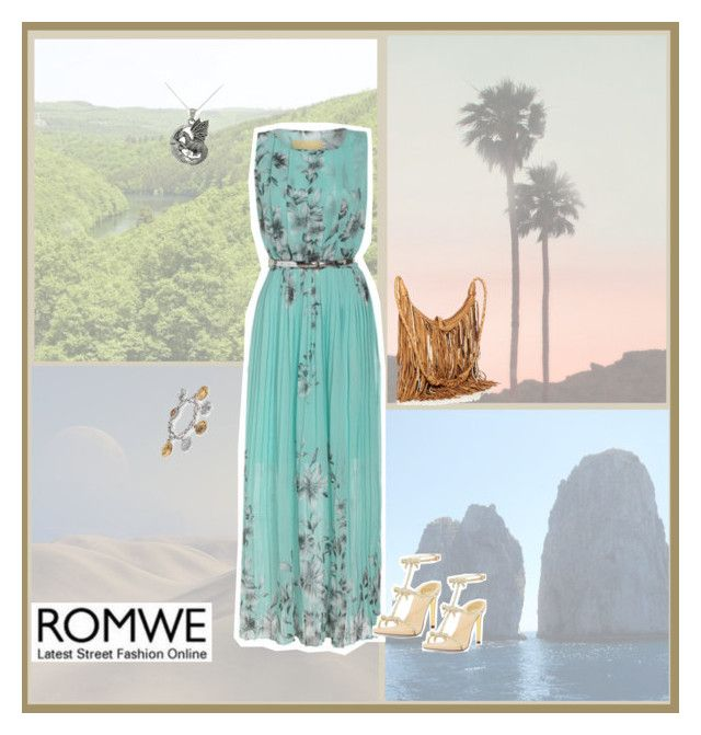 """""""ROMWE Contest: Florals Pleated Dress"""" by true-fashion-dictator ❤ liked on Polyvore"""