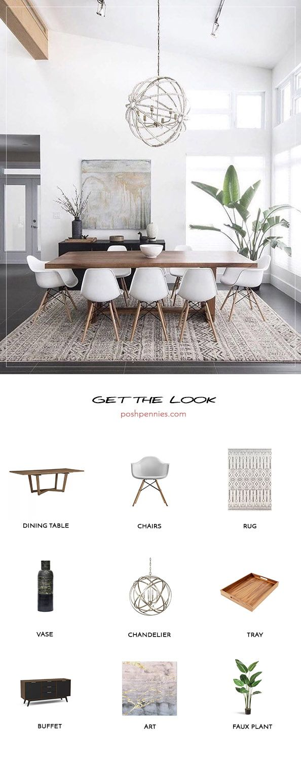 Get The Look: Neutral Minimal Dining Room images