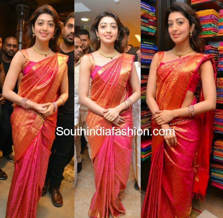 Pranitha Subhash Launches Kancheepuram VRK Silks At
