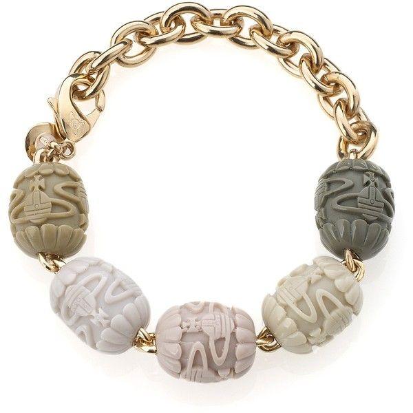 Vivienne Westwood Vivienne Westwood Imperial Court Bracelet Ivory ($155) ❤ liked on Polyvore