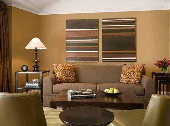 Brown Sofa Tan Walls Brown Curtains Living Room Color Living