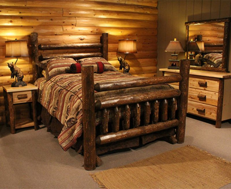 Log Bedroom Sets Magnificent Log Bedroombedroom Log Cabins House Pinterestbedroom Log Cabin Decorating Design