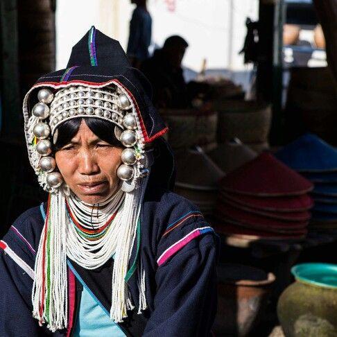 Akha woman wearing traditional dress. Photo by Rosaria Imbroglia