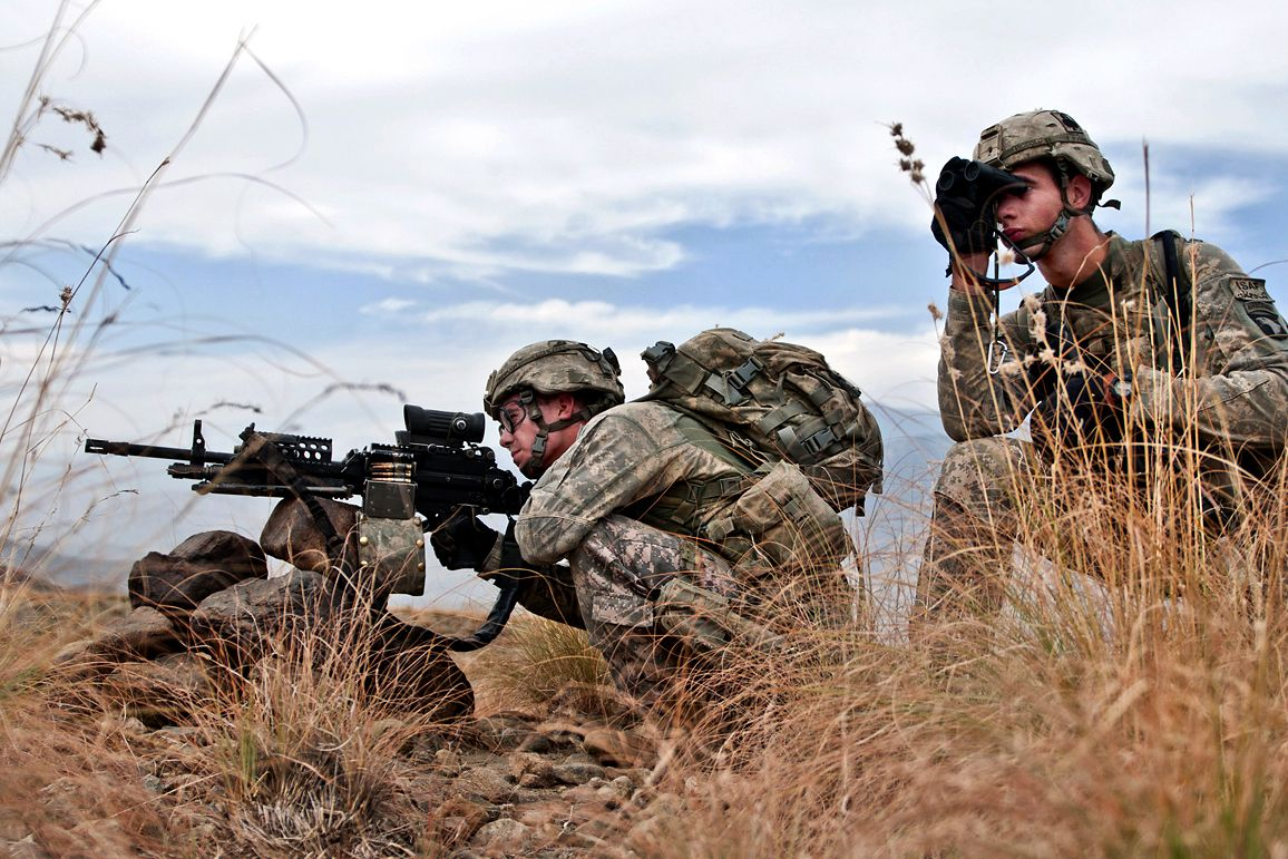 U.S. Army soldiers assigned to Company C, 2nd Battalion