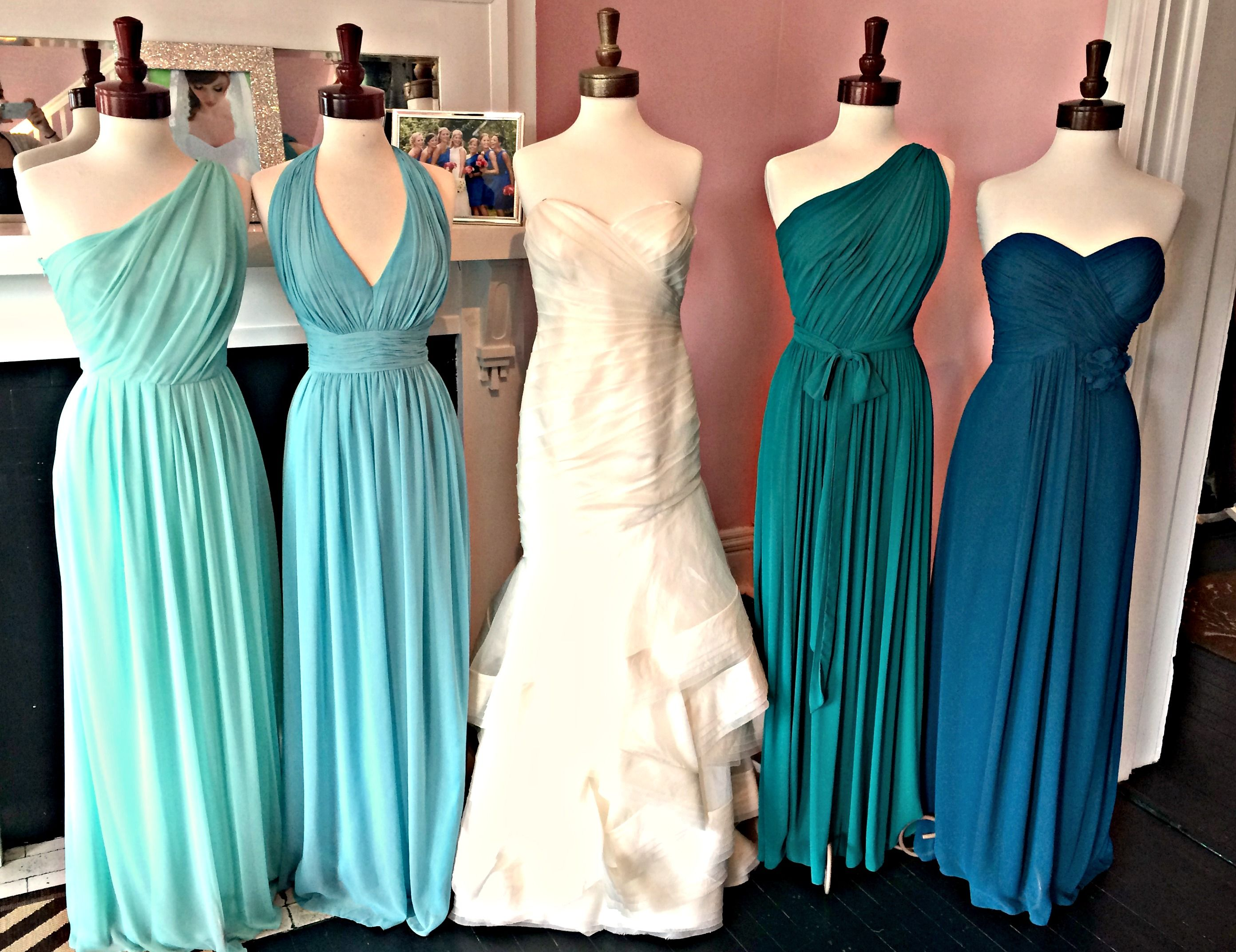 Teal ombre bridesmaid dresses google search wedding teal ombre bridesmaid dresses google search ombrellifo Gallery