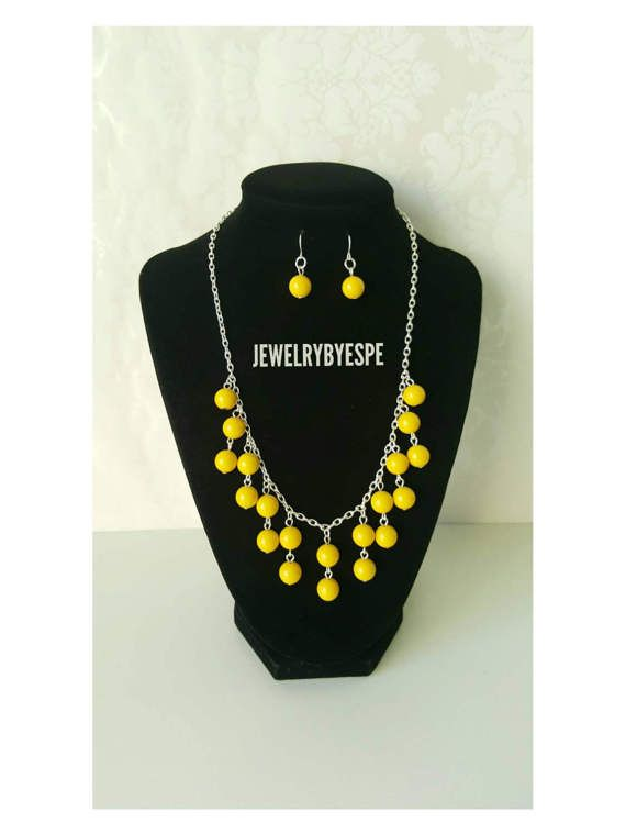 Hey, I found this really awesome Etsy listing at https://www.etsy.com/listing/504748298/yellow-necklace-statement-necklace