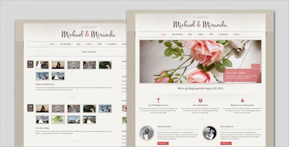 Wedding Clic And Elegant WordPress Theme Simple Weddingswedding Websitewebsite Templatewordpress
