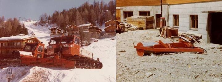 Früher war alles besser, da wurden die Pisten gewalzt, for perfect slopes. (1980)  #Ratrac #Winter #Pistenpflege