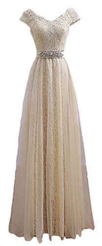 Generic Women's V Neck Cap Sleeve Lace Evening Gowns Party Prom Dress, Champagne, US6 Generic http://www.amazon.com/dp/B01A5CFM28/ref=cm_sw_r_pi_dp_SFW7wb1EVNZYM