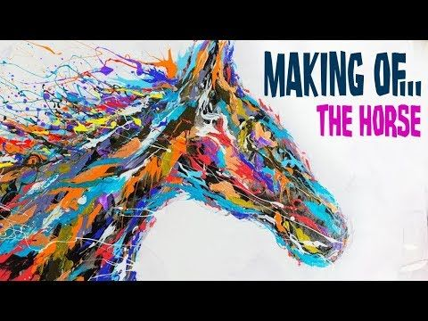 Into The Wind Horse With Acrylic Paint And Floetrol Youtube Art