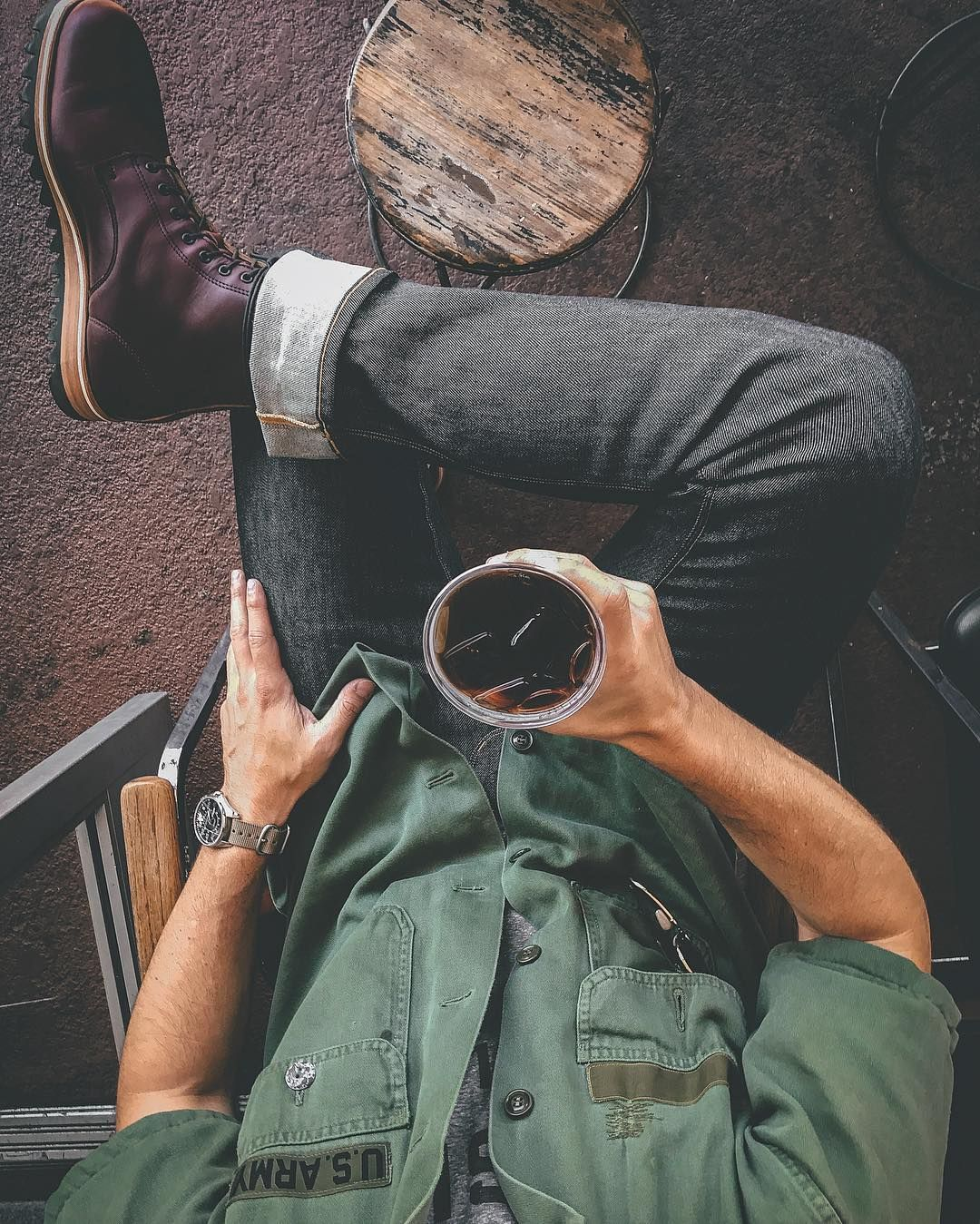 "Instagram post by Devin McGovern • Sep 21, 2016 at 1043pm UTC is part of Mens fashion rugged - 1,711 Likes, 58 Comments  Devin McGovern (@outlinedcloth) on Instagram ""Afternoon ☕️ @twogunsespresso coffee coffeetime coldbrew"""