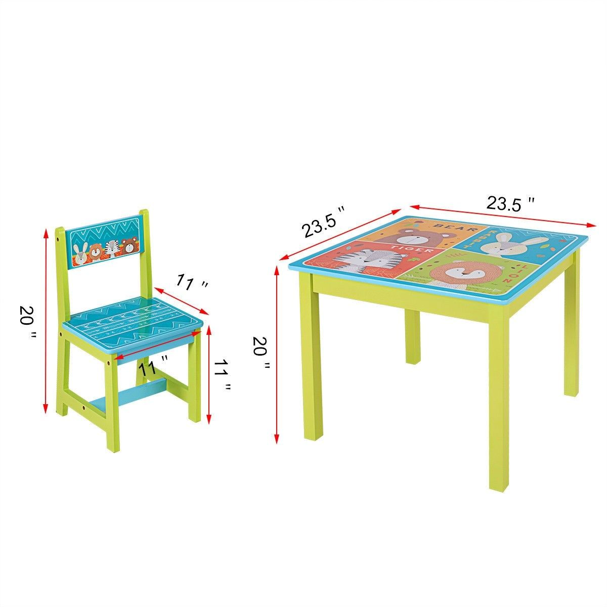 Kids Table And Chairs Set For Toddler Baby Furniture With Cartoon Pattern 62 95 Free Shipping Http Kids Table And Chairs Kids Table Set Table And Chair Sets