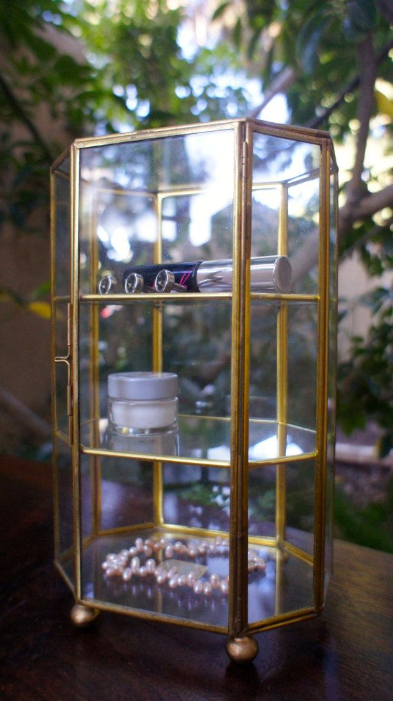 Mirrored Glass Cabinet Dresser Bathroom Organizer For