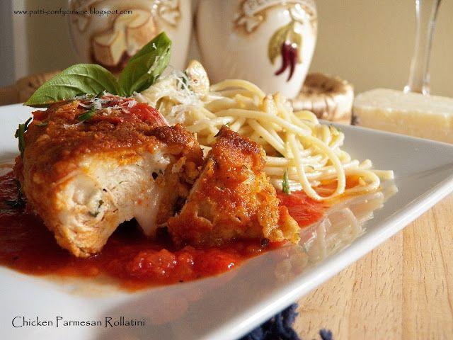 Comfy Cuisine: Stovetop Chicken Parmesan Rollatini with Spaghetti Aglio e Olio