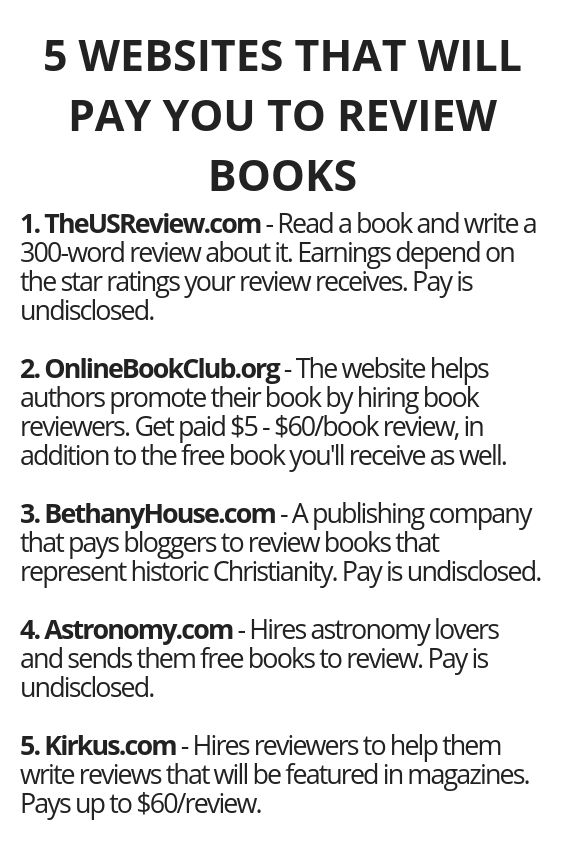 5 Websites That Will Pay You To Review Books | Earn money ...