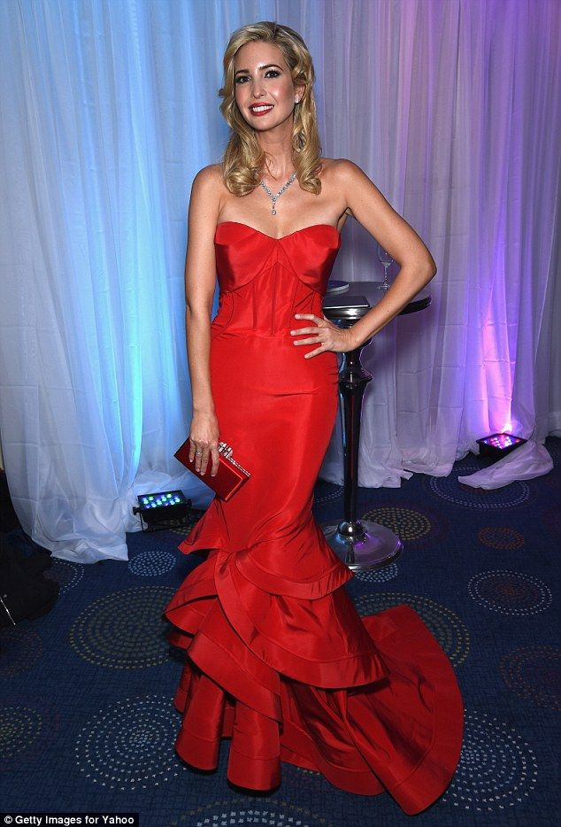 Ivanka Trump is ravishing in red gown at White House dinner Ivanka