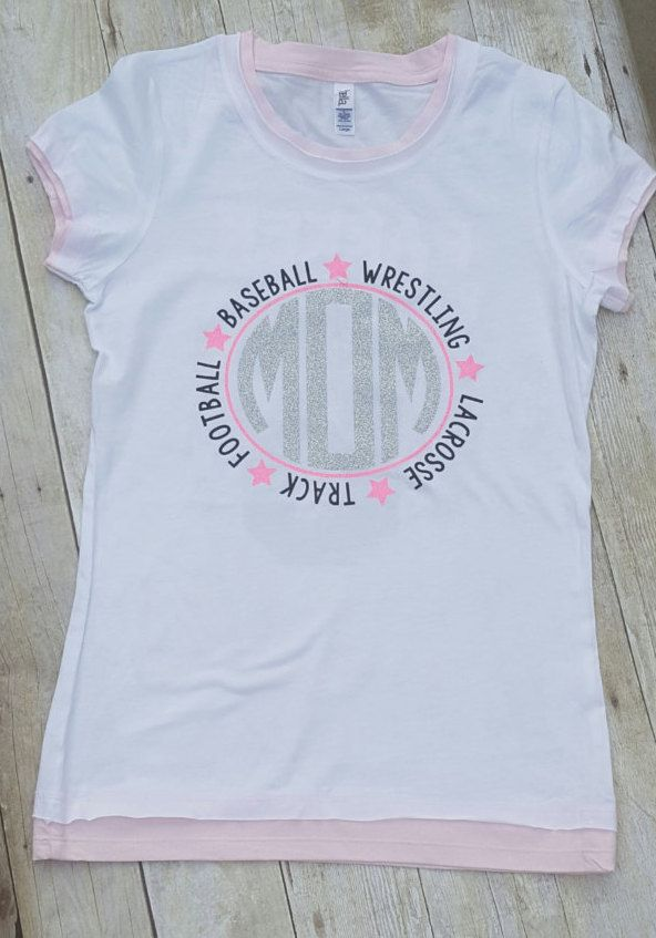 7a55f103253a Multi-Sports Mom Shirt/ Football Mom/ Soccer Mom/ Dance Mom/ Wrestling Mom/Baseball  Mom/ Lacrosse Mom by AnchorRoseCompany on Etsy