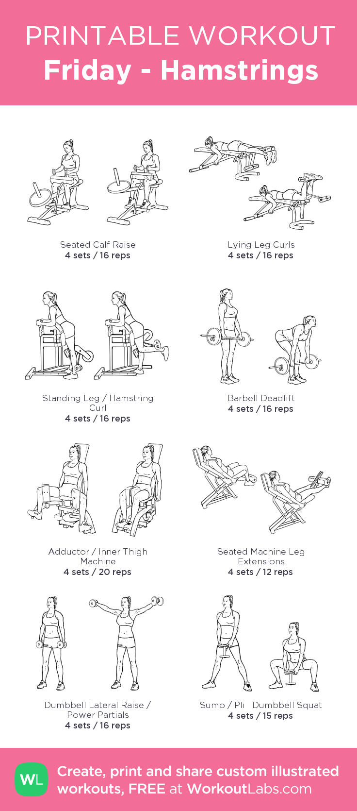 Friday Hamstrings Glute And Hamstring Workout Glute