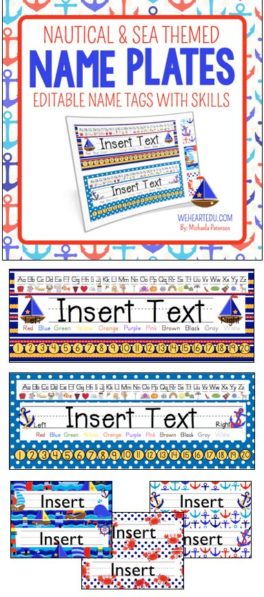 Enjoy This Seaworthy Nautical And Sea Theme Desk Name Tag Collection With Skills These Are