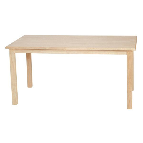 "Wood Designs Hardwood Rectangle Table | ATG Stores 22"" high or 24"" high"