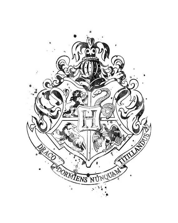 Hogwarts Crest Black And White Art Print Hogwarts House Hogwartscrest Blackan Harry Potter Tattoos Harry Potter Bildschirmhintergrund Harry Potter Zeichen