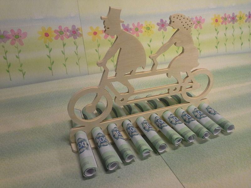Tandem bruiloft contant geld cadeau voor de bruilo van Stöberstübchen op DaWanda.com