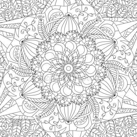 Descargar - Vector de Mandala para colorear para adultos ...