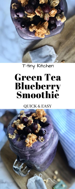 Photo of Green Tea Blueberry Smoothie