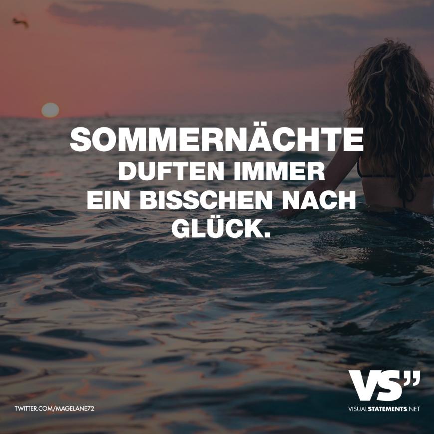 Photo of Sommernächste duften immer ein bisschen nach Glück. – VISUAL STATEMENTS®