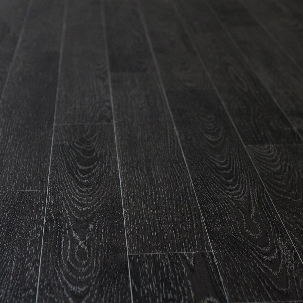 Black Wood Planks Non Slip Vinyl Flooring Kitchen Bathroom Cheap Rolls Lino Vinyl Flooring Kitchen Vinyl Flooring Black Vinyl Flooring
