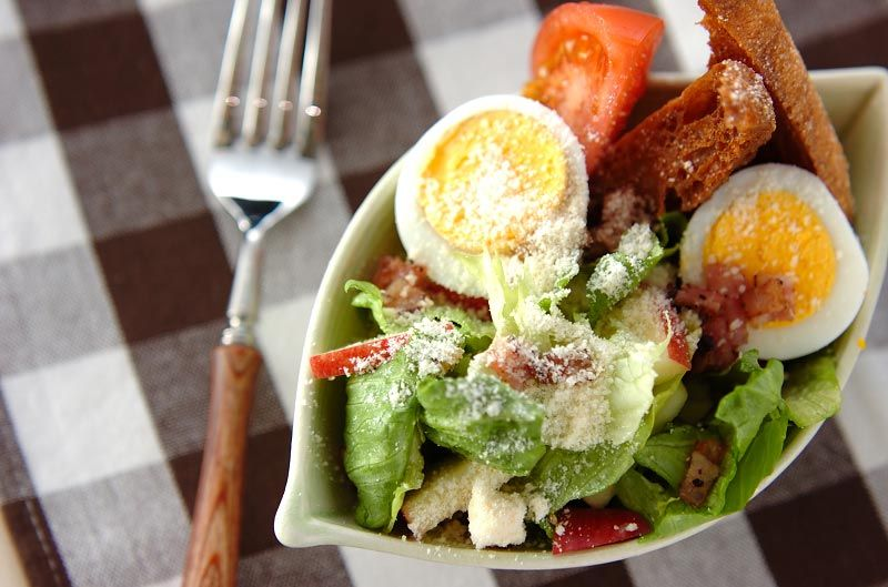 シーザーサラダ【E・レシピ】料理のプロが作る簡単レシピ/2008.03.10公開のレシピです。