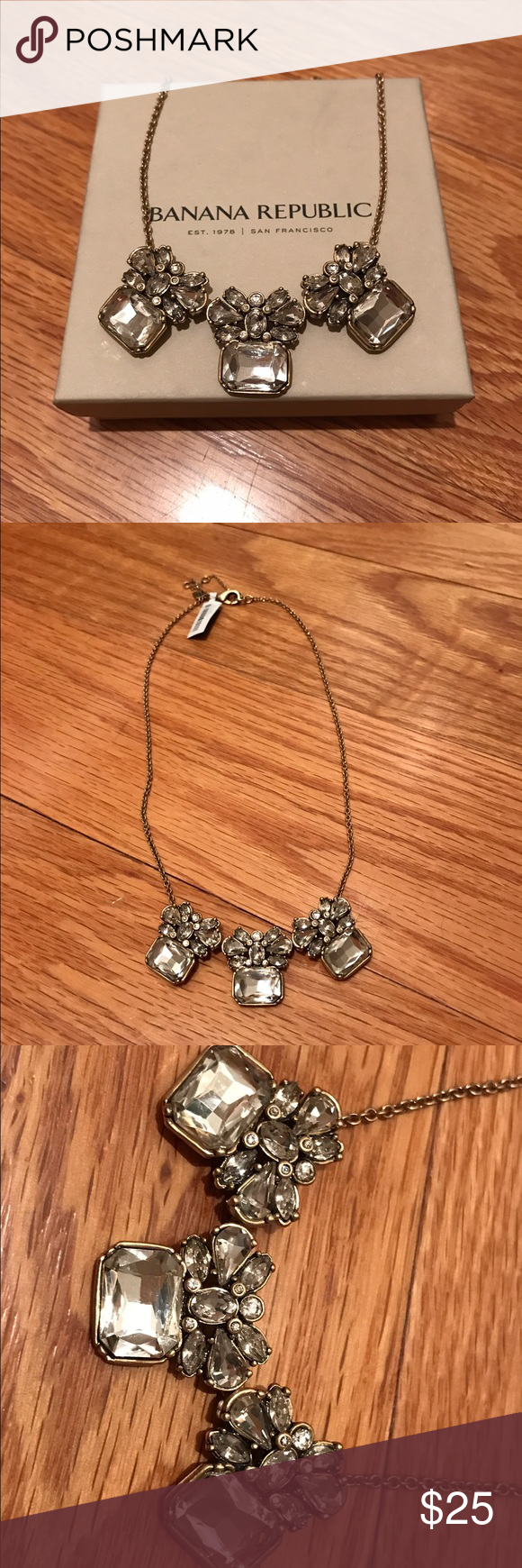 NWT Banana Republic Crystal Necklace New with tags Banana Republic crystal necklace Banana Republic Jewelry Necklaces