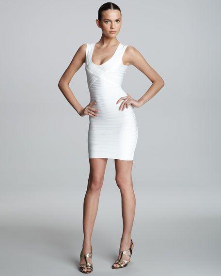 40++ Herve leger white dress info