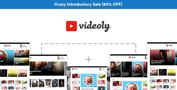Videoly - Video WordPress Theme | Pinterest