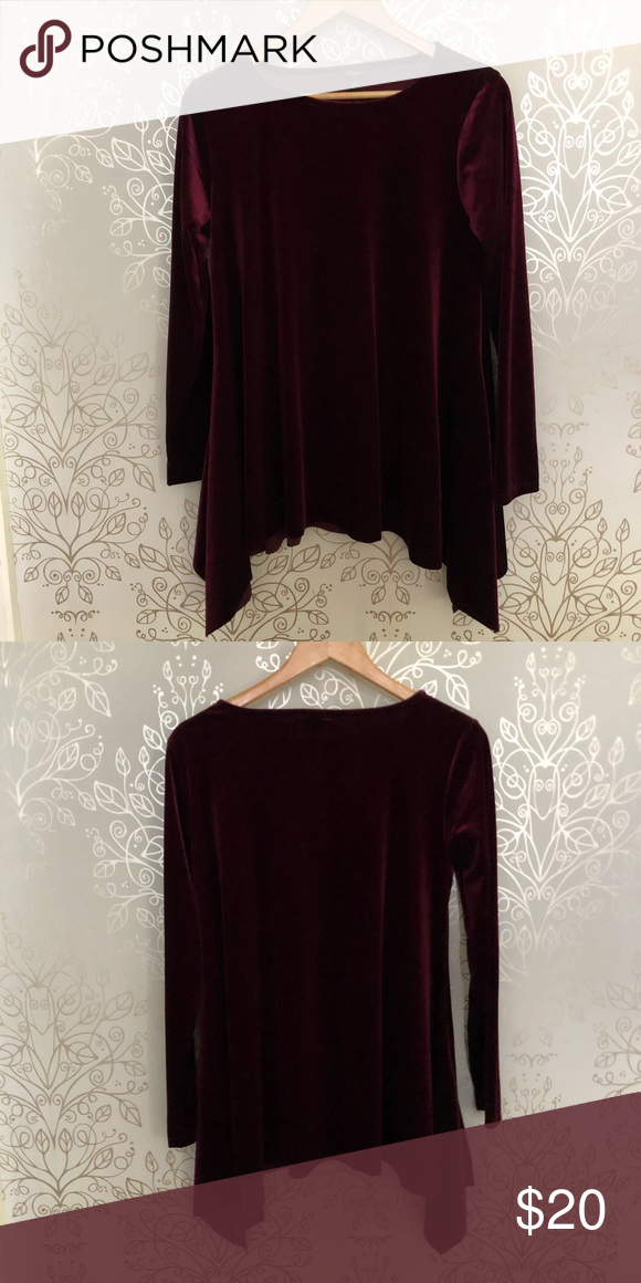 856016f882514 Sides have a high low detail. Color burgundy. Never worn. No tags. (I just  like to remove tags and then never wear something...horrible ...