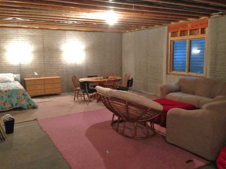 13 Clever Unfinished Basement Ideas On A Budget You Should Try Unfinished Basement Bedroom Basement Bedrooms Basement Makeover