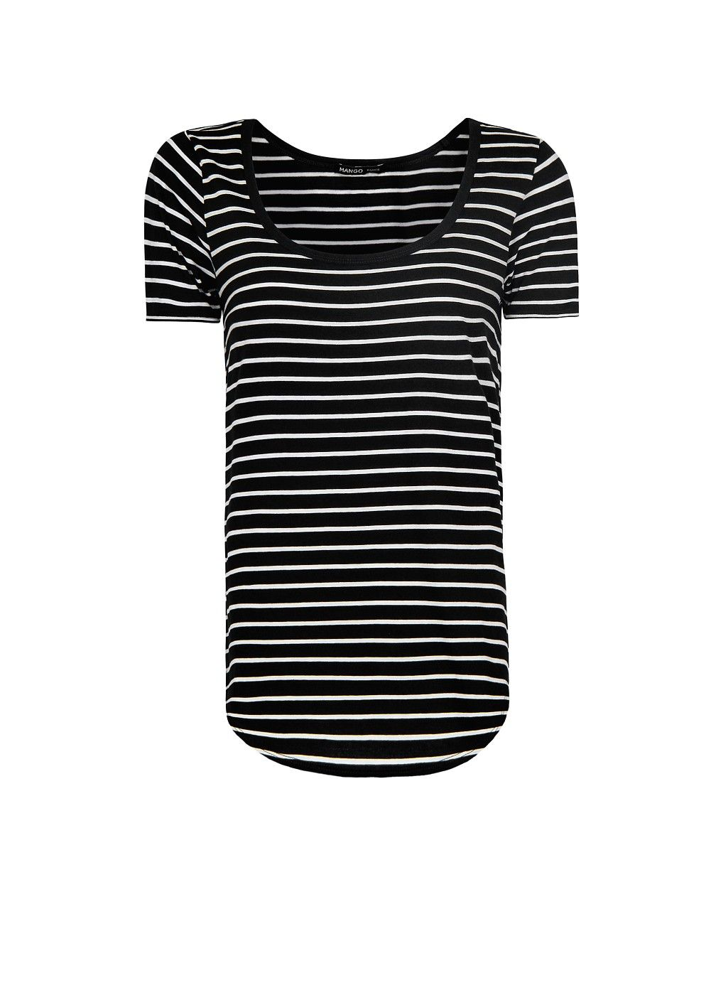 Mango navy striped tee