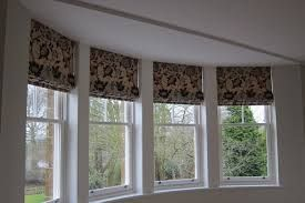 Roman Blinds In Curved Bay Windows Corner Window Treatments