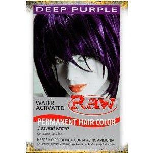 Raw Deep Purple Permanent Hair Dye Hottopic Polyvore